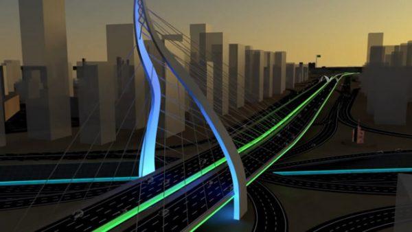 城市交通建筑三维动画