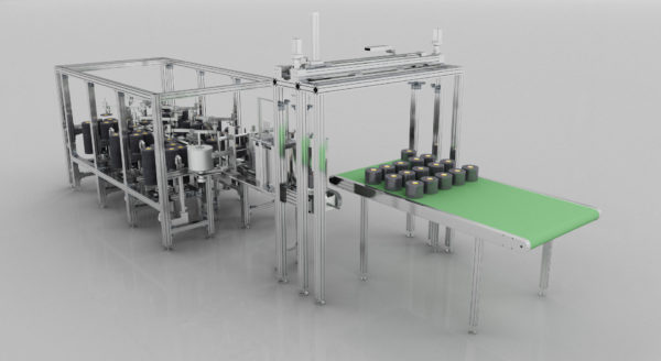 工业流水线三维动画