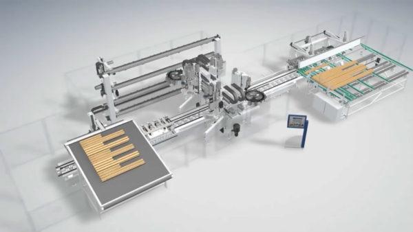 木加工工业生产工艺三维动画