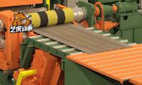 机械生产装配动画演示切割机